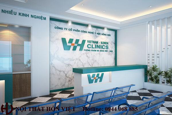 Thiết kế nội thất phòng khám Việt-Hàn