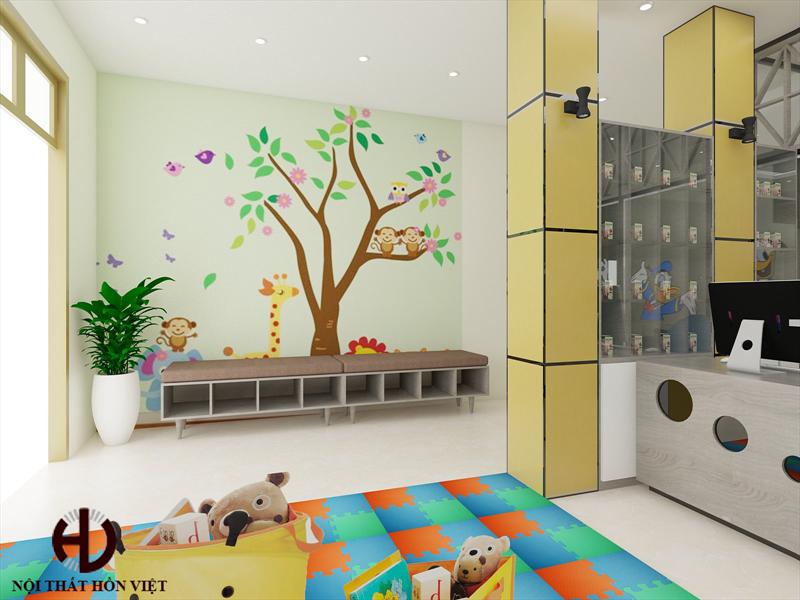 Thiết kế nội thất phòng khám Nhi