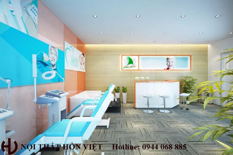 Thiết kế nội thất phòng khám răng ở KĐT Việt Hưng, Gia Lâm, Hà Nội