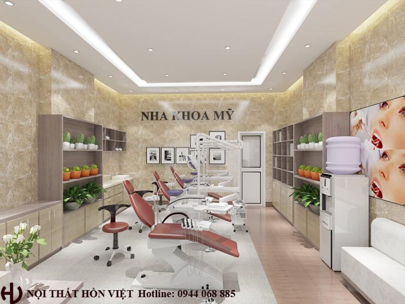 Thiết kế nội thất phòng khám NHA KHOA MY