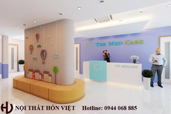 Thiết kế phòng khám nhi The Medcera Mỗ Lao HN 2