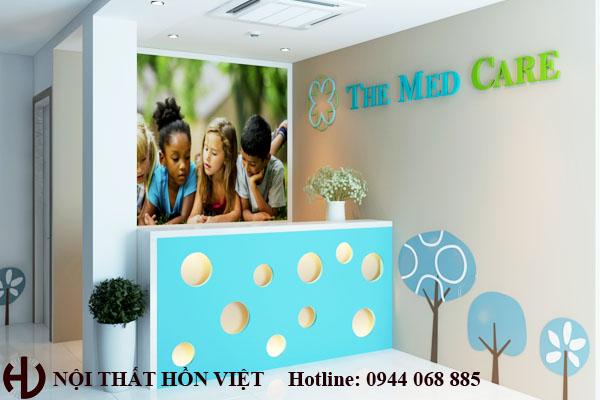 Thiết kế phòng khám nhi The Medcera Mỗ Lao HN 4