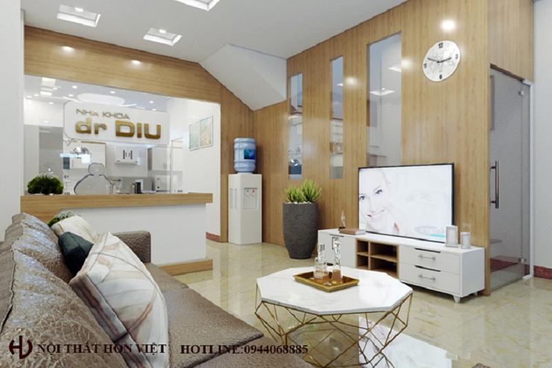 Thiết kế nội thất phòng khám nha khoa Dr DIU ở Tây Hồ
