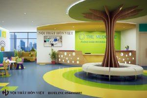 Thiết kế hệ thống phòng khám nhi The Medcare chi nhánh Quảng Ninh