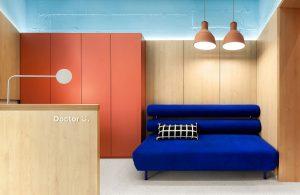 Thiết kế phòng khám nhi khoa với quy mô nhỏ theo phong cách hiện đại